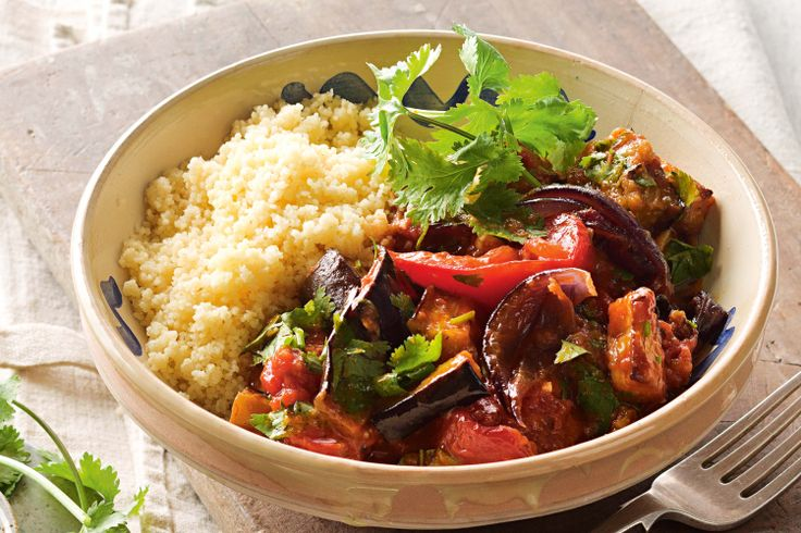 This healthy vegetarian dinner idea is filled with spicy Moroccan flavour.