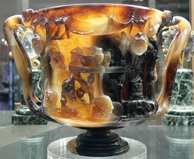 Cup of the Ptolemies - Sardonyx, from Alexandria, 1st century BCE - 1st century CE. Cabinet des Medailles, Bibliotheque Nationale, Paris.