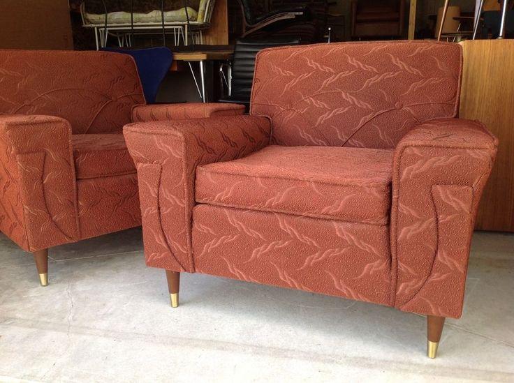 Great Vintage Kroehler Lounge Chairs Mid Century Modern