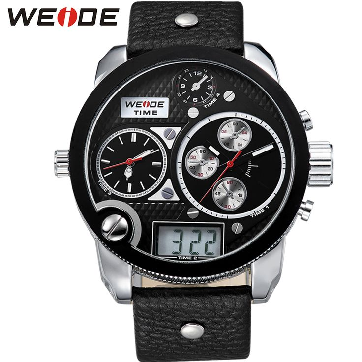 WEIDE Big Dial Black Mens Digital Repeater Back Light Leather Wristwatch Buckle Date Stopwatch Quartz Analog 3 Time Zone Watch     Tag a friend who would love this!     FREE Shipping Worldwide     Get it here ---> https://shoppingafter.com/products/weide-big-dial-black-mens-digital-repeater-back-light-leather-wristwatch-buckle-date-stopwatch-quartz-analog-3-time-zone-watch/
