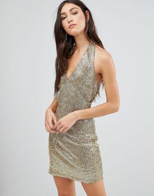 Glamorous Halterneck Pencil Dress