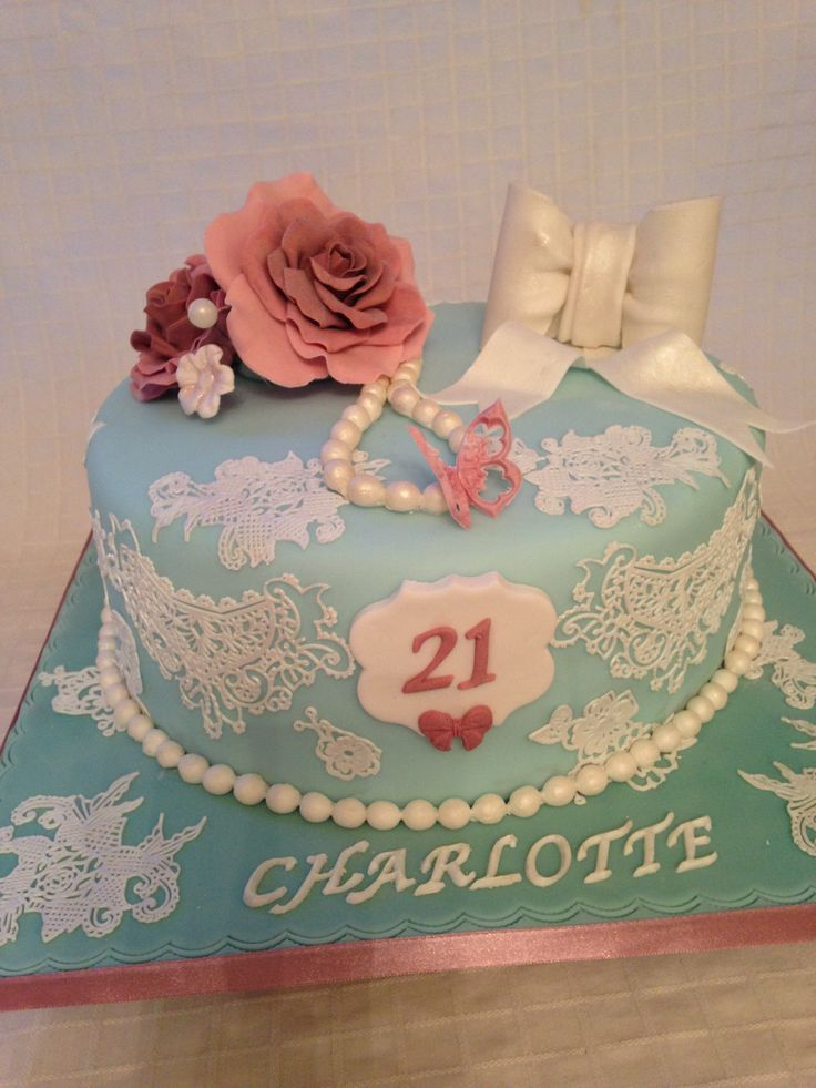 Vintage Cake Design Ideas : Vintage 21st birthday cake Cakes and cake pops ...