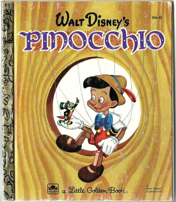 Walt Disney's Pinocchio: a Little Golden Book  - Walt Disney Studios. $4.75, via Etsy.