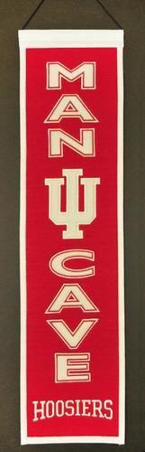 "Indiana Hoosiers Official NCAA 8"""" x 32"""" Man Cave Banner Flag IU Winning Streak"