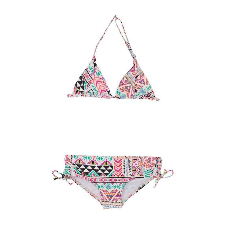 Girl's Billabong Bikinis - Billabong Efie Triangle Set Bikini - Multi