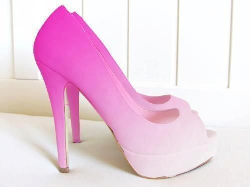 pink ombre shoes. http://brayola.com