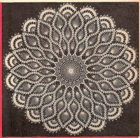 Pineapple Crochet Doily Pattern