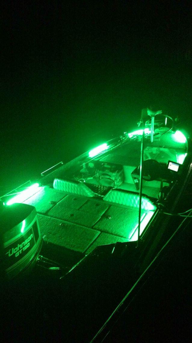Green LED Strips on a Ranger Bass Boat