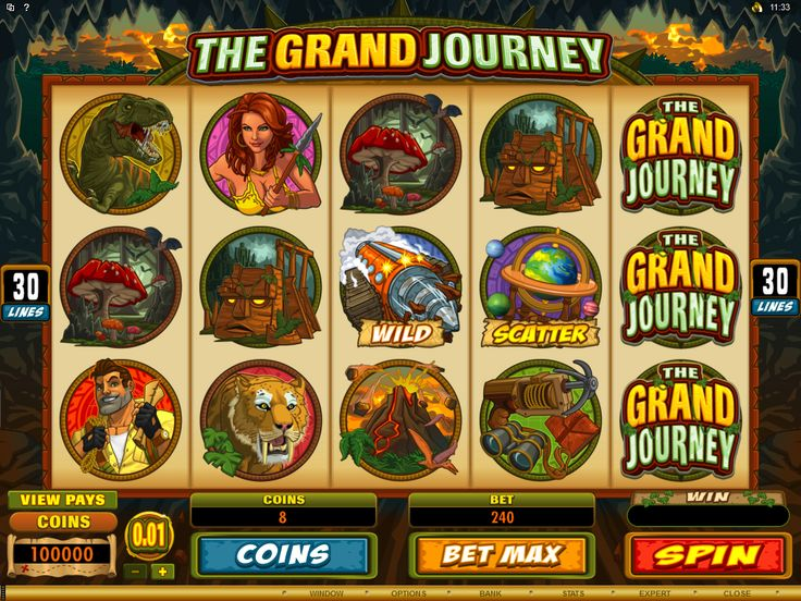 Try your luck on the Grand Journey Online Slot available at Crazy Vegas Casino. It's a 5 Reel 30 Payline Slot Game with multipliers and expanding wilds.https://www.crazyvegas.com/