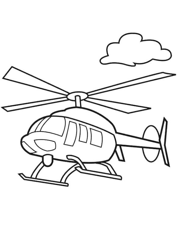 Helicopter Coloring Page Coloring Pages Helicopter Embroidery