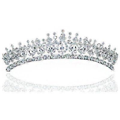 Elegante Kristall Strass Funkelnde Braut Hochzeit Diadem Tiara - http://schmuckhaus.online/preciousyou/elegante-kristall-strass-funkelnde-braut-diadem