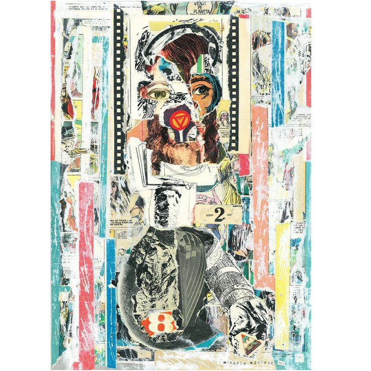 Wonder Woman! 29,5x42 cm  Analog collage  www.handcutcollage.com