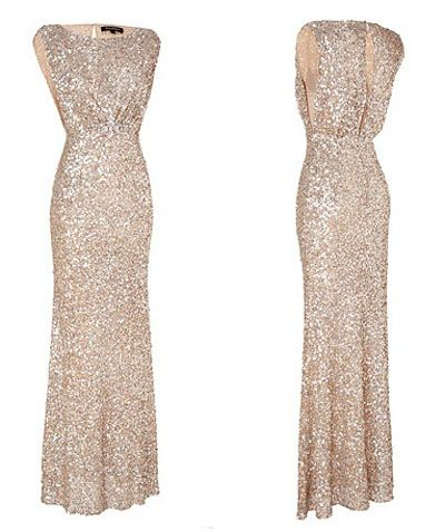 White and Gold Wedding. Bridesmaid Dress. This would be pretty for Daughter or Mother or MIL of the Bride.