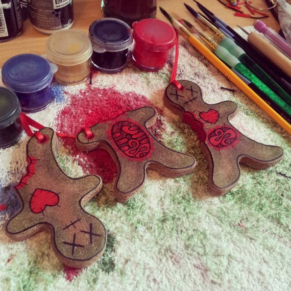 Zombie Ornaments Christmas Gingerbread Man by LegraLand on Etsy, $15.00