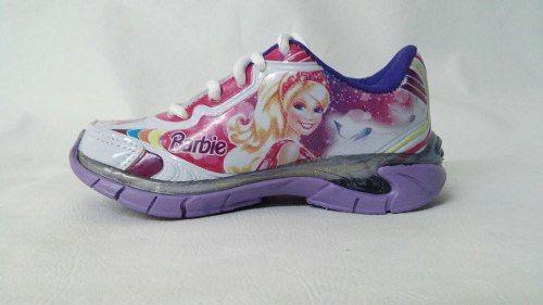 Tenis, Barbie, Branco/lilas, Com Luzes, - R$ 59,90 http://produto.mercadolivre.com.br/MLB-742130730-tenis-barbie-brancolilas-com-luzes-_JM