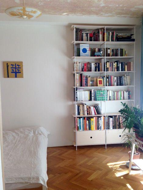 Nastassia and Pavel's new shelf with 2 drawers.