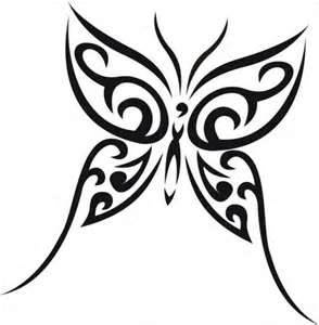Tribal Butterfly Tattoos - I like this one :)
