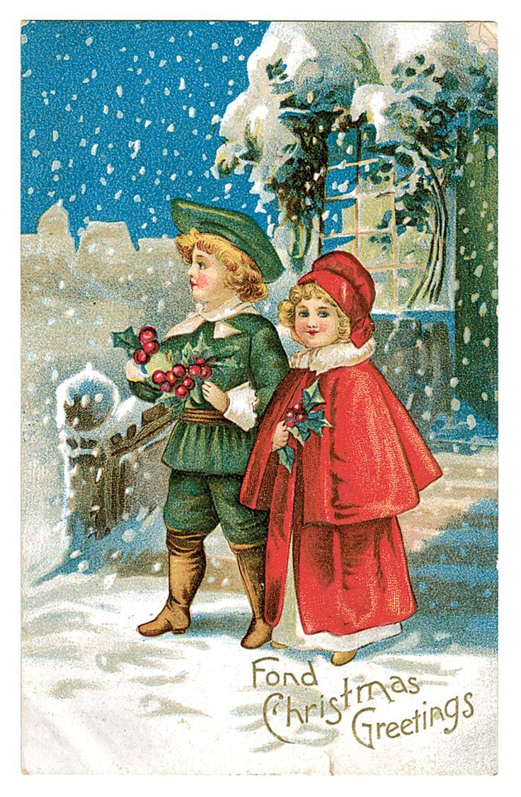 Стихи, открытка новогодняя начала 20 века