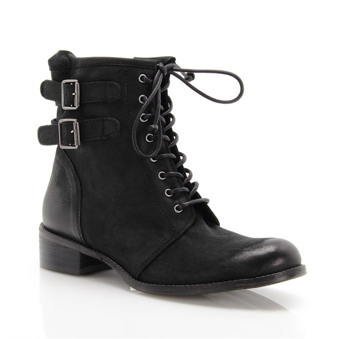 Black leather boots MOD: 7343J4953