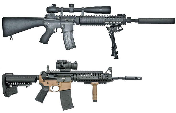 Современные боевые системы на базе AR-15: винтовка специального назначения Mk.12 SPR и карабин M4 Navy Seal