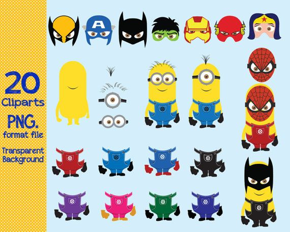 Digital download  Minions Superhero  dress up by ANYTHINGINCARDS