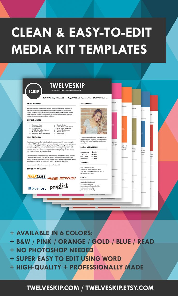 32 best media kit design examples images on pinterest for Press packet template