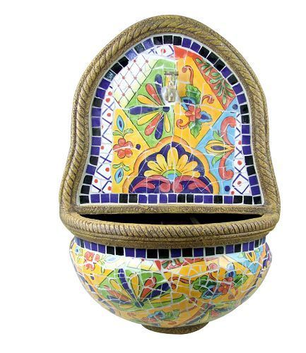 9 best images about fountains on pinterest outdoor wall for Mexican style outdoor fountains