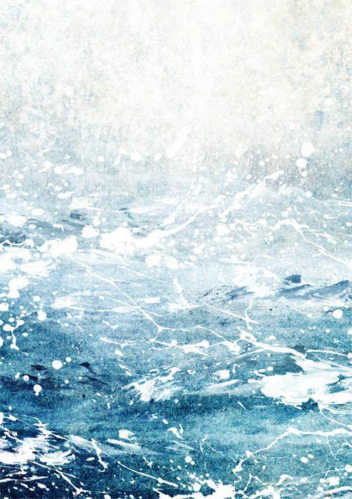 Ocean Print Ocean Art Ocean Waves Abstract Ocean by TheArtLoungeUK