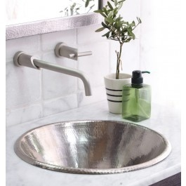 Cazo In Brushed Nickel   The Cazo Copper Sink Is Made From Recycled Copper  As Are