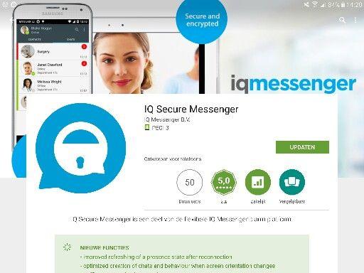 Update IQ Secure Messenger beschikbaar. Naast chat ook kritische en medische alarmering!