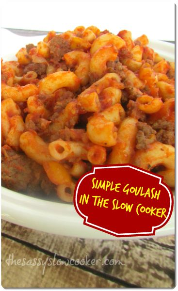 Ground Meat Goulash is a simple meal that can be made in a pinch in your slow cooker! It's a family favorite!