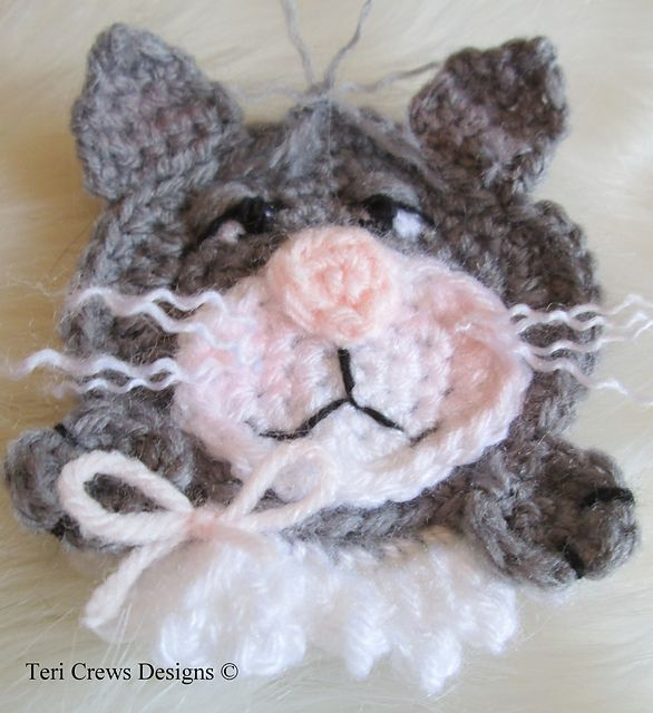 Cat Applique Crochet Pattern pattern by Teri Crews