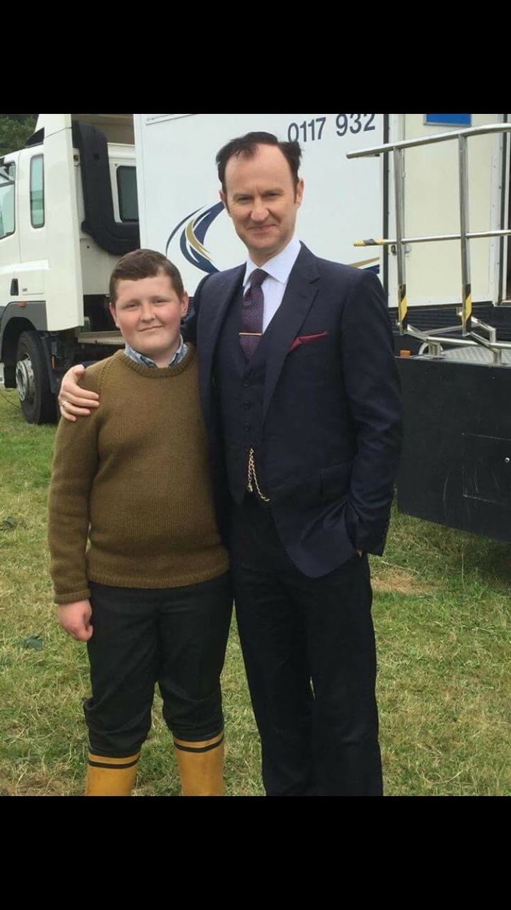 Mark and mini Mycroft - The Final Problem behind the scenes