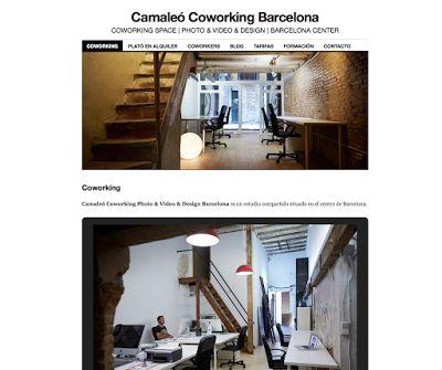 Web para Camaleó Coworking Barcelona.