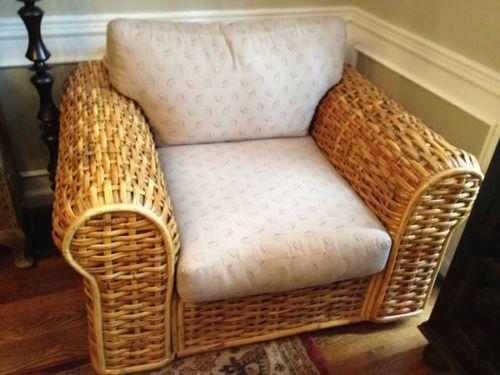 Ralph Lauren Woven Rattan | Ralph Lauren Rattan Wicker Chair Ottoman Sofa  Loveseat And 2nd Chair