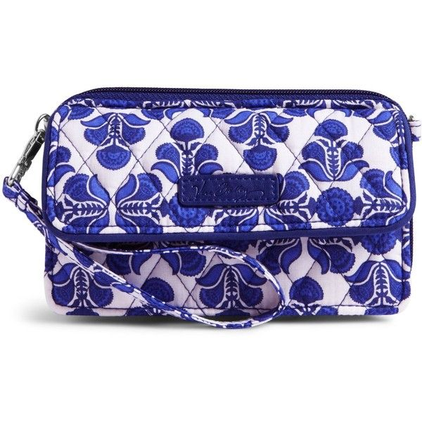 Vera Bradley All in One Crossbody and Wristlet for iPhone 6+ in Cobalt... ($54) ❤ liked on Polyvore featuring bags, handbags, shoulder bags, cobalt tile, shoulder handbags, vera bradley crossbody, crossbody purse, vera bradley purses and blue handbags