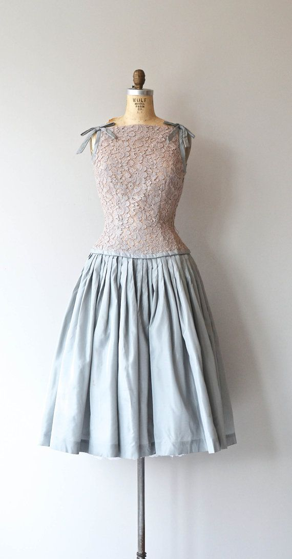 Trop Belle dress 1950s lace dress vintage 50s by DearGolden