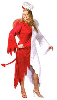 Naughty and Nice Plus Size Costume - Devil and Angel Costumes - AngelCostumes.org