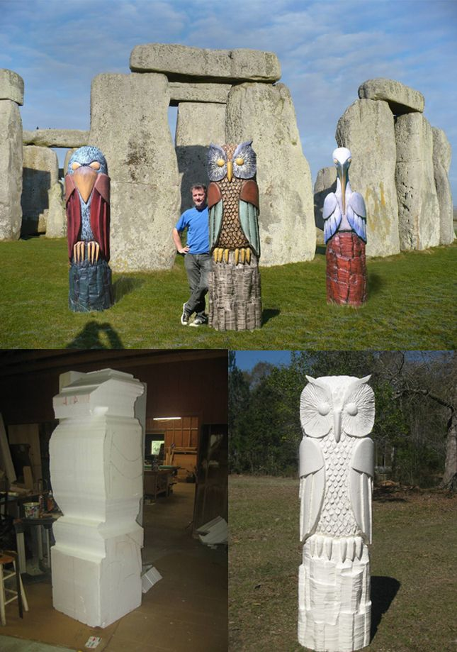 #styrofoam #sculptures .... Is this a good base for concrete sculpture?  It would take a lot less concrete!  Just have to wrap it all in wire for the concrete ..... ?