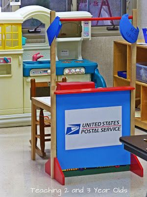 Teaching 2 and 3 Year Olds: Post Office Dramatic Play