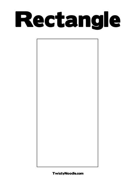 rectangle coloring pages for preschoolers | Rectangle Coloring Page from TwistyNoodle.com | Preschool ...