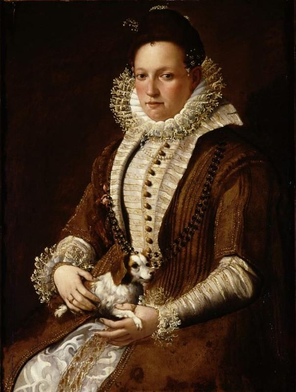 Portrait of a lady with a dog Artist: Lavinia Fontana: