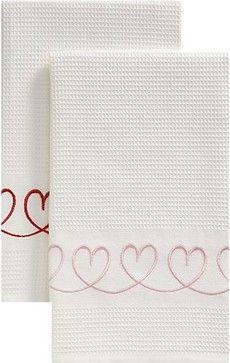 Set of 2 Valentine Dishtowels - eclectic - Dishtowels - Crate&Barrel