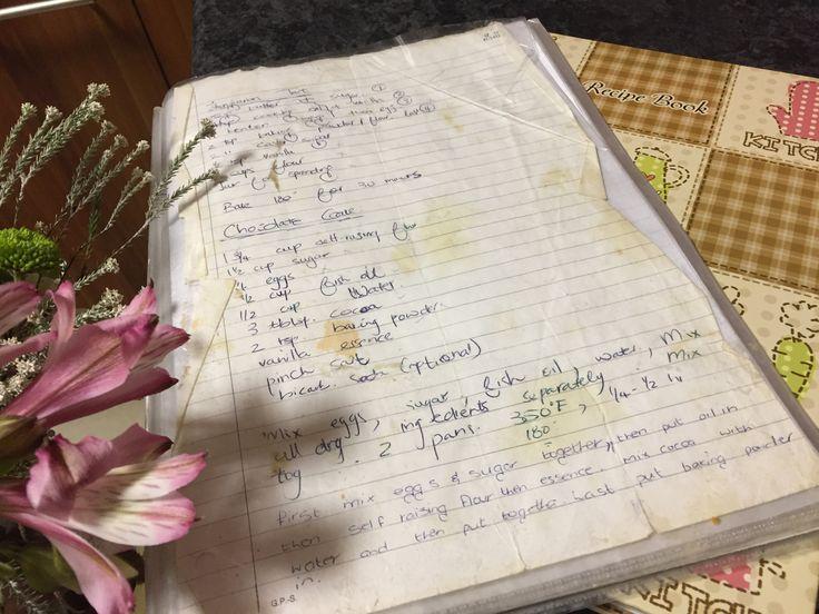 #familyrecipe #secret #notsosecret #chocolatecake #cadbury #todiefor #flowers #recipebook #recipe #passeddown
