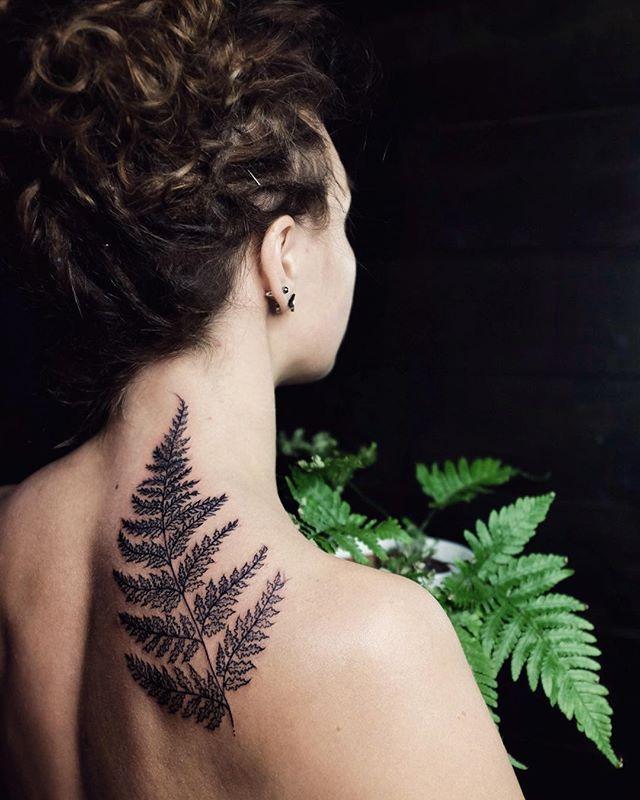 Back to the roots! ✨ #tattoo #blacktattoo #fern #ferntattoo #linework…