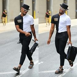 Askia Abdull - Forever 21 Top Hat, Urban Outfitters Eyewear, Topman Bag, H&M…