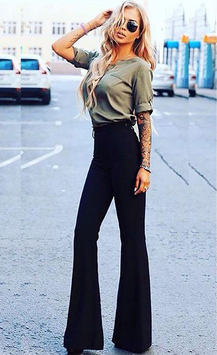 High Waist Skinny Women Trousers