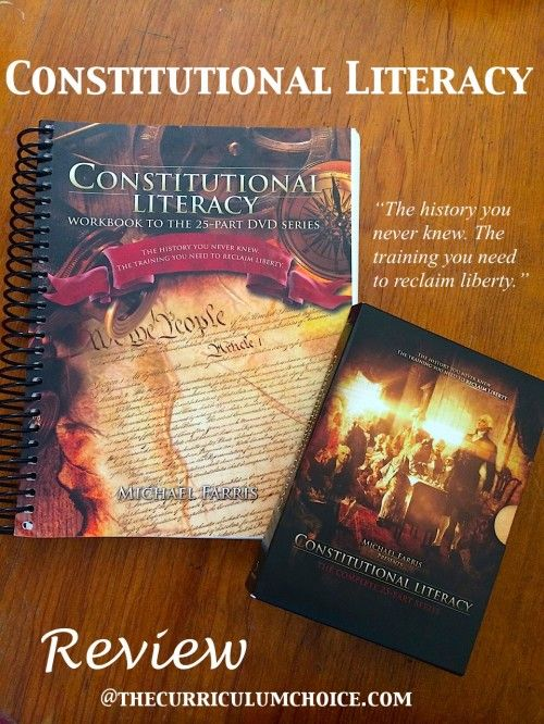 """Constitutional Literacy Review (and giveaway!) at The Curriculum Choice """"The history you never knew. The training you need to reclaim liberty."""" #ConLit"""
