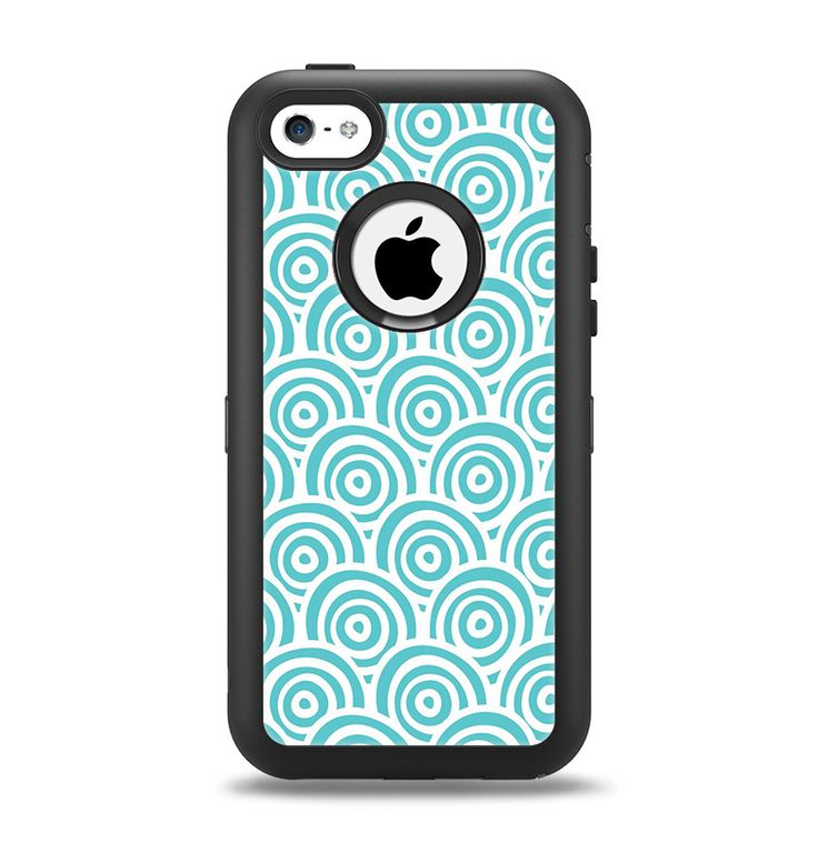 The Aqua Blue & White Swirls Apple iPhone 5c Otterbox ...
