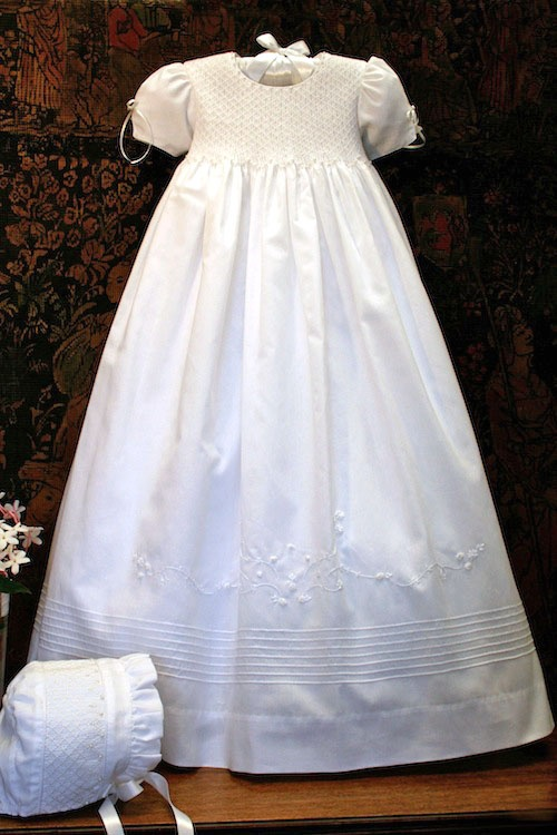 """""""Pearls"""" a christening gown to build memories around."""
